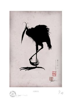 Japan Bird Prints signed numbered prints